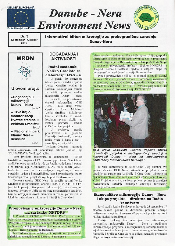 Danube - Nera Environment News, 2005
