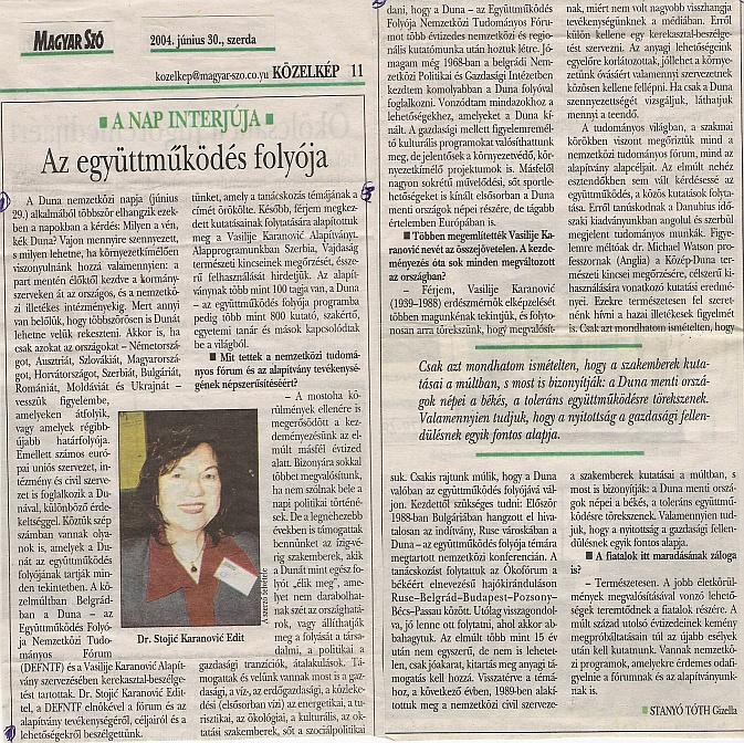 Magyar Szó, 2004